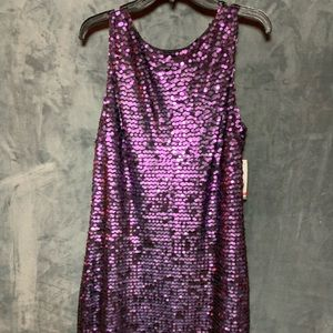 NWT Purple Sequin Dress by Jessica Howard Evenings